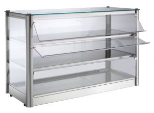 VKB83N Neutral countertop display cabinet 3 TOPS in stainless steel sheet