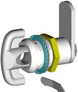 """IN-33C Padlockable cylinder for """"IN"""" series cabinets"""