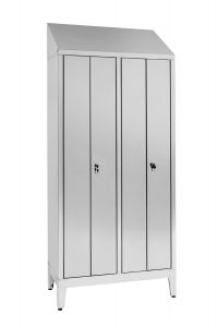 IN-S50.694.08.430 Dressing Cabinet In Stainless Steel Aisi 430 A 2 Seats With 4 Doors Cm. 95X50X215H