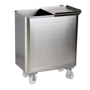 MC1009 trolley equipped stainless hopper - mm. 350X580XH700