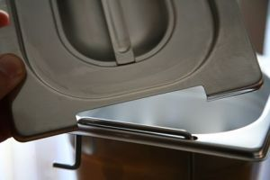 CPR2/3M Coperchio 2/3 in acciaio inox AISI 304 con spacco maniglie