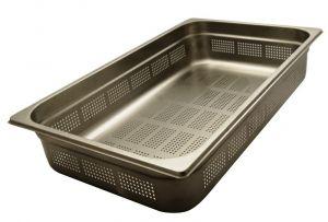 GST1/1P100F Contenitore Gastronorm 1/1 h100 forato in acciaio inox AISI 304