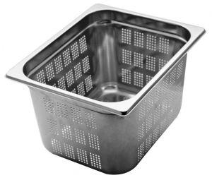 GST1/2P200F Contenitore Gastronorm 1/2 h200 forato in acciaio inox AISI 304