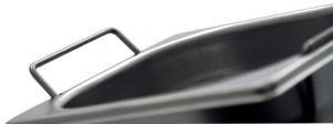 GST1/6P065M Contenitore Gastronorm 1/6 h65 con maniglie in acciaio inox AISI 304
