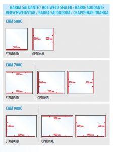 Additional sealing bar for CAM500C / 700C / 900C models