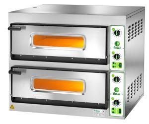FES44T Forno elettrico pizza 8,4 kW doppia camera 66x66x14h - Trifase