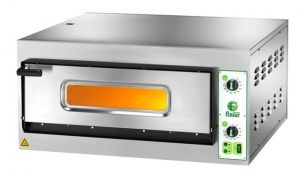 FES4T Electric pizza oven 4.2 kW 1 room 66x66x14h - Three Phase