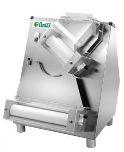 FI32N Pizza rolling machine with double pair of tilded rollerls 32 cm