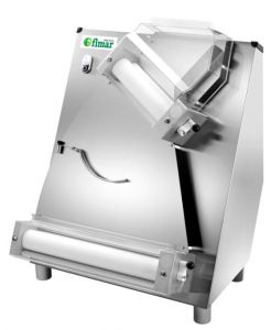 FI42N Pizza rolling machine with double pair of rollerls tilted 42 cm