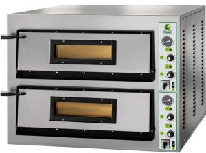 FML44T Electric pizza oven 12 kW double room 72x72x14h cm - Three Phase