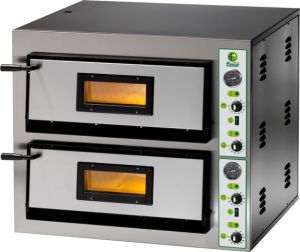 FML66M Electric pizza oven 18 kW double room 72x108x14h cm - Single phase