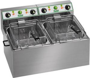 FR44 Electric fryer double 4+4 liters basins