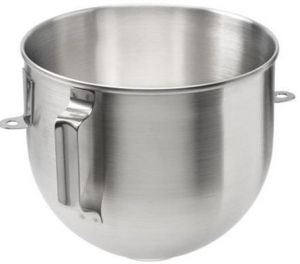 K5ASB Stainless steel bowl for planetary mixer Kitchenaid. Capacity 4.83 liters.