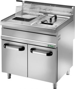 SFM20DM Gas fryer on cupboard container 20 liters