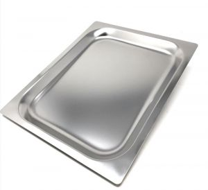 FNC1 / 2P020 Gastronorm baking tray 1/2 h20 in stainless steel AISI 304 flat edge
