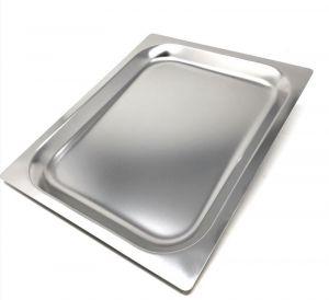 FNC1/2P020 Teglia Gastronorm 1/2 h20 in acciaio inox AISI 304 bordo piano