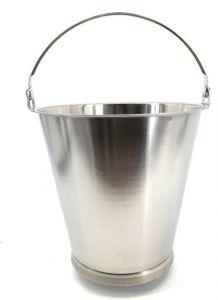 SE-G10B Secchio in acciaio inox graduato 10 litri con base