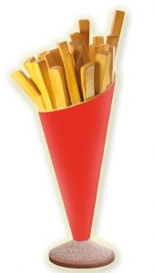 SR007 French fries - 3D advertising potato cone for a height of 180 cm