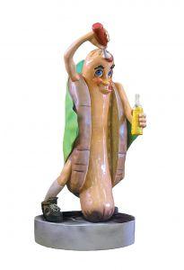 SR009 Hot dog - hot dog pubblicitario 3D per gastronomia altezza 185 cm