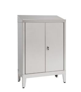 IN-699.02 Cabinet desk with 2 doors in AISI 304 steel - dim. 80x40x115 H