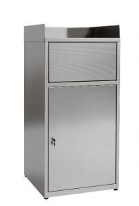 IN-701.01 Cabinet waste bin empties trays in AISI 304 stainless steel - Dim. 60x60x120 H