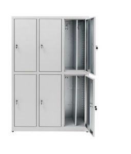 IN-Z.694.07.50 Dressing cabinet 6 Doors Overlapping plasticized zinc 120x50x180 H
