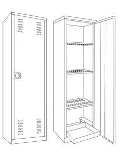 IN-Z.694.10 Armadi per Fitofarmaci zinco plastificati 60x45x200 H