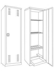 IN-Z.694.11 Cabinet for phytosanitary zinc coated 100x45x200 H