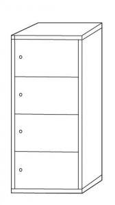 IN-Z.695.04 Armadio Portaoggetti Multivano zinco plastificato a 4 posti - Dim. 45x40x180 H