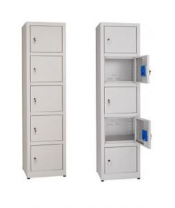 IN-Z.695.05 Multipurpose plastic storage cabinet with 5 seats - Dim. 45x40x180 H