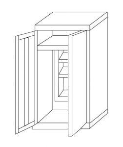 IN-Z.696.03 - 2door zinc-plated plastic Sliding Door Wardrobe - 100x40x180 H