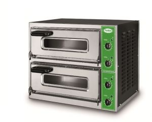 B1 + 1V - Pizza oven INOX 2 PIZZA 40 cm Single-phase
