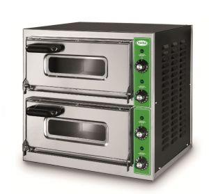 B7 + 7T - Pizza oven INOX 2 PIZZA 50 cm three-phase