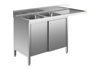 EU01961-20 lavatoio armadio per lavast. ECO cm 200x70x85h  2v e sg dx - porte scorrevoli