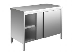EU03300-19 tavolo armadio ECO cm 190x70x85h  piano liscio - porte scorrevoli