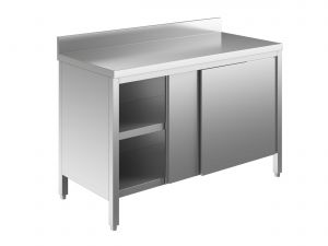 EU03301-16 tavolo armadio ECO cm 160x70x85h  piano alzatina - porte scorrevoli