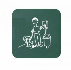T103078 Info board for Dog waste bags dispensers