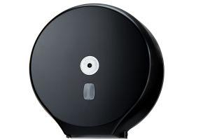T104205 Roll toilet paper dispenser black abs 400 mt