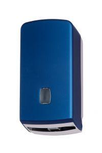 T104356 Distributore carta igienica interfogliata/rotolo ABS blu soft-touch