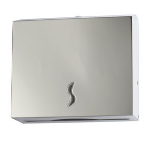 T105010 AISI 430 brushed s. steel Paper towel dispenser 200 sheets