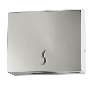 T105013 AISI 304 brushed s. steel Paper towel dispenser 200 sheets