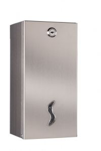 T105025 Distributore di carta igienica interfogliata doppio acciaio inox AISI 430 satinato