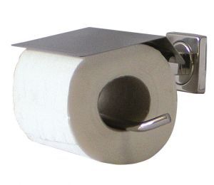 T105109 AISI 304 Polished stainless steel Toilet paper holder for single roll