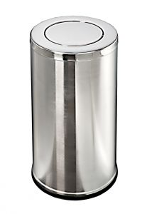 T106091 Gettacarte acciaio inox coperchio basculante 52 litri