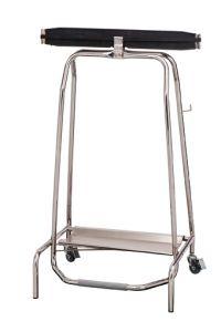 T107500 Portasacco mobile acciaio inox a chiusura ermetica
