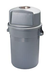 T114120 Gettacarte Push plastica grigio 120 litri