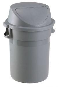 T114125 Gettacarte polipropilene 80 litri con coperchio push