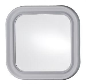 T150000 Specchio in vetro quadrato con cornice ABS bianca 46x46cm