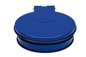 T601011 Porta sacco tondo con coperchio in acciaio Blu