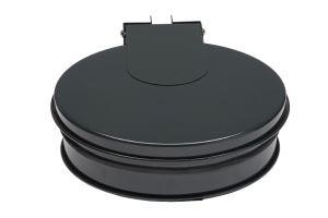T601012 Portasacco tondo con coperchio in acciaio Grigio
